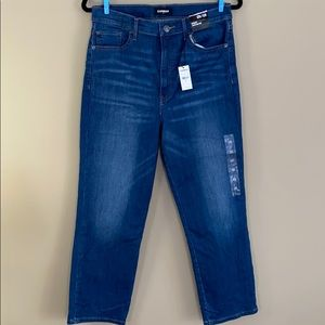 NWT - Express Straight Super High Rise Jeans - 12R